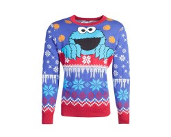 Kampsun Sesame Street: Cookie Monster (Christmas)