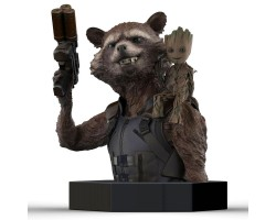 Bust Guardians of the Galaxy Vol. 2: Rocket Raccoon & Groot
